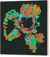 Abstract Iris Wood Print by James Hammen