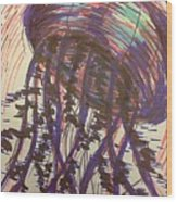 Abstract Jellyfish In Ink Wood Print