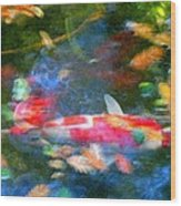 Abstract Koi 1 Wood Print