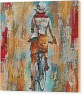Abstract Lady 4  Wood Print
