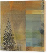 Abstract Landscape One Wood Print
