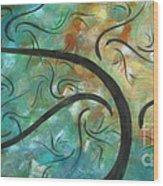 Abstract Landscape Painting Digital Texture Art By Megan Duncanson Wood Print