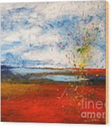 Abstract Lanscape Wood Print