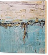 Abstract Large Painting Wood Print