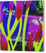 Abstract Lavender  Wood Print