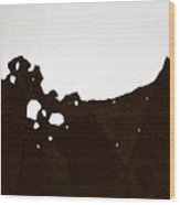 Abstract Leaf Wood Print