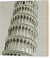 Abstract Leaning Tower Of Pisa Wood Print