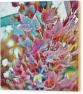 Abstract Leaves Wood Print