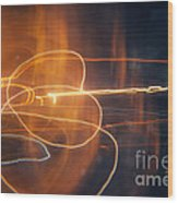Abstract Light Streaks Wood Print