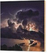 Abstract Lightning 14 Wood Print