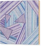 Abstract Lines Wood Print