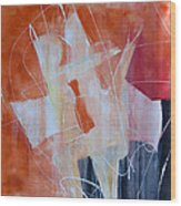 Abstract Lovers Wood Print