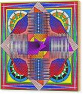 Abstract Mandala Wood Print