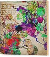 Abstract Mixed Media Wood Print