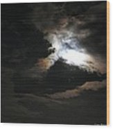 Abstract Moon Wood Print