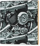 Abstract Motor Bike - Doc Braham - All Rights Reserved Wood Print