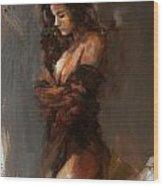 Abstract Nude 32 Wood Print