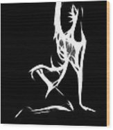 Abstract Nude Wood Print