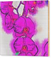 Abstract Orchid 1 Wood Print