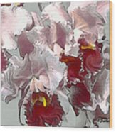 Abstract Orchid Wood Print
