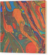 Abstract Paint Background Wood Print