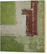 Abstract Painting Green 13013 Wood Print