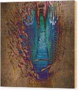 Abstract Path Wood Print