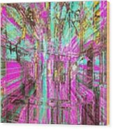 Abstract Peace Wood Print