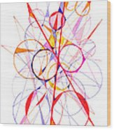 Abstract Pen Drawing Fifty-one Wood Print