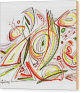 Abstract Pen Drawing Forty-six Wood Print