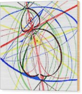 Abstract Pen Drawing Seventy-four Wood Print