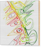Abstract Pen Drawing Seventy-one Wood Print