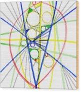 Abstract Pen Drawing Seventy-three Wood Print