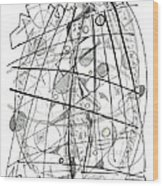 Abstract Pen Drawing Sixty-eight Wood Print
