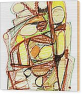 Abstract Pen Drawing Sixty-three Wood Print
