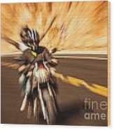 Abstract Photo Of Riders Wood Print
