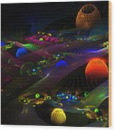 Abstract Psychedelic Fractal Art Wood Print