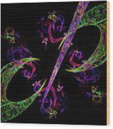 Abstract Psychedelic Modern Art Wood Print