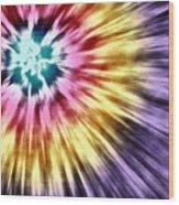 Abstract Purple Tie Dye Wood Print