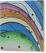 Abstract Rainbow Wood Print by Juan Molina