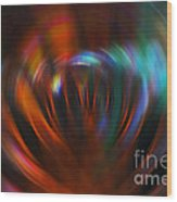 Abstract Red And Green Blur Wood Print