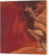 Abstract Red Sandstone Formations Lower Antelope Slot Wood Print