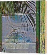 Abstract Reflection Wood Print