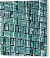 Abstract Reflections In Windows Wood Print