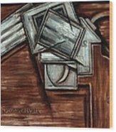 Tommervik Cubism Hand Gun Art Wood Print