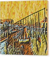 Abstract Roller Coaster Wood Print