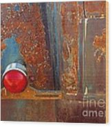 Abstract Rust Wood Print