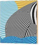 Abstract - Sailing Wood Print