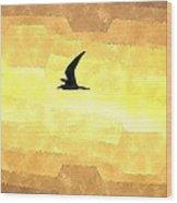 Abstract Seagull Flight Wood Print