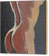 Abstract Sienna Torso - Female Nude Wood Print